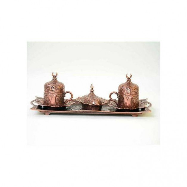 Lalezar Bakıroksit 2 Kişilik Kahve Takımı