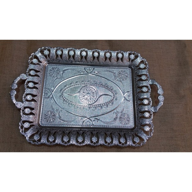 6 lı gümüş telkari tepsi