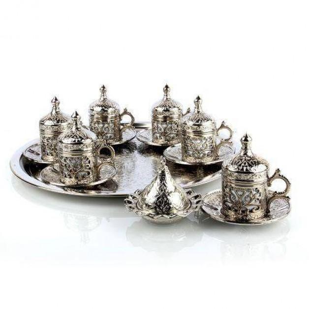 Sarmaşıklı 6 Kişilik Kahve takımı