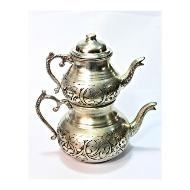 Eskitme Bakır Çaydanlık